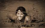 mud makes me smile | Mud Run | Warrior Run | Sepia Tone